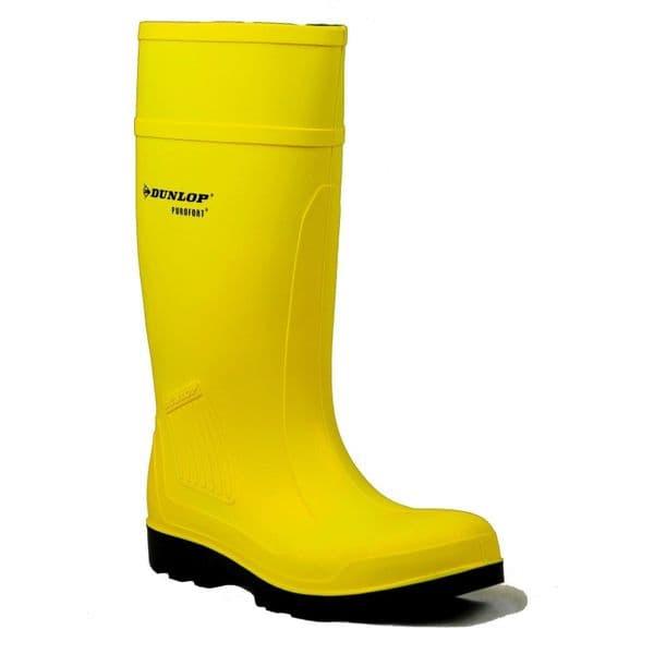 Dunlop Purofort Professional Safety Wellingtons Yellow